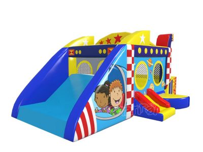 buy space ship bounce house with slide