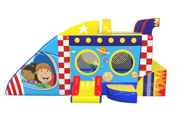 space ship bounce house for kids