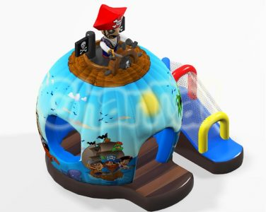 pirate ship inflatable bounce house