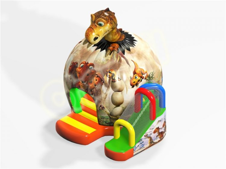 dinosaur egg bouncy house combo