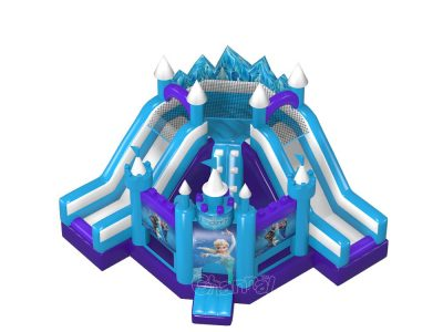 frozen theme bouncy castle slide combo