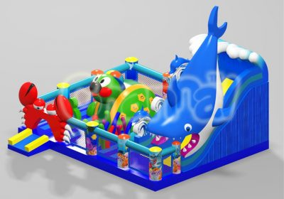 sea world theme inflatable playground