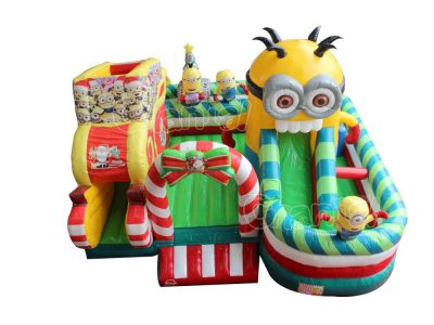 minions theme inflatable obstacle course