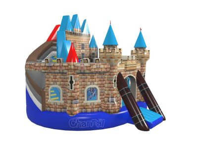 knights castle inflatable slide playground