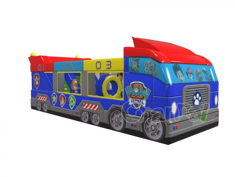 paw patrol bus inflatable playing field for kids