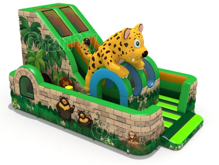 leopard inflatable playground