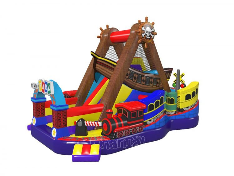 Inflatable pirate ship amusement ride channal inflatables - Inflatable pirate ship swimming pool ...