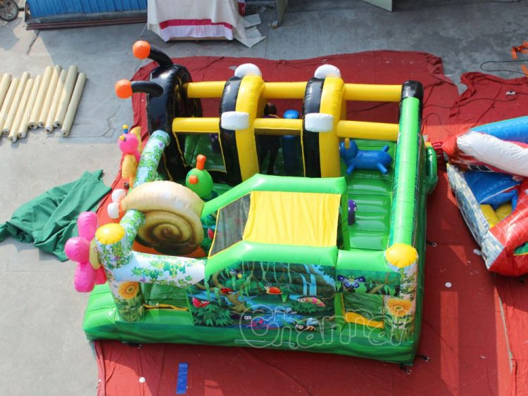 forest bugs inflatable course for kids