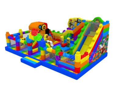 lego movie themed inflatable playground