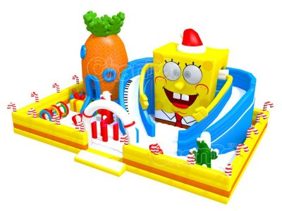 spongebob pineapple house inflatable playground