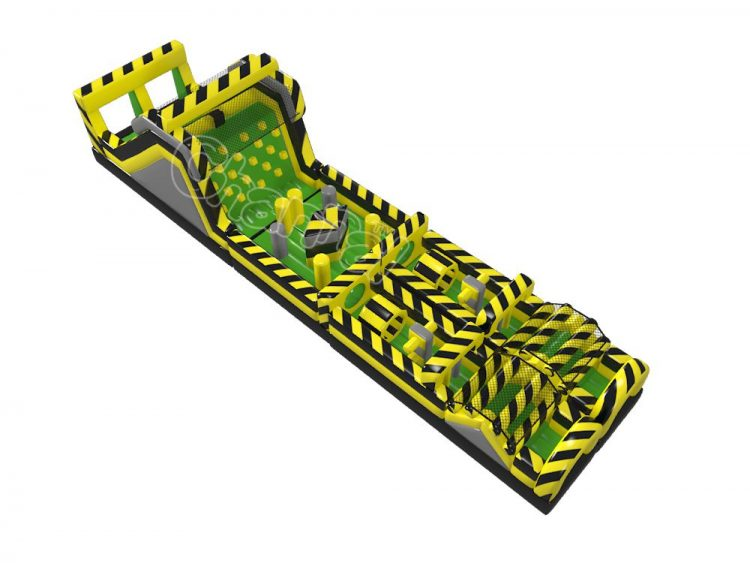 danger zone inflatable obstacle course for sale