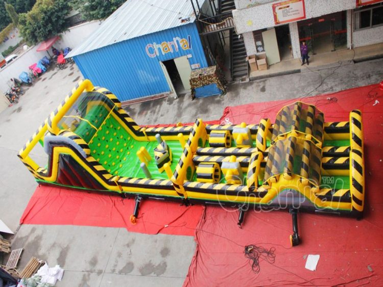 commercial danger zone inflatable obstacle course for kids