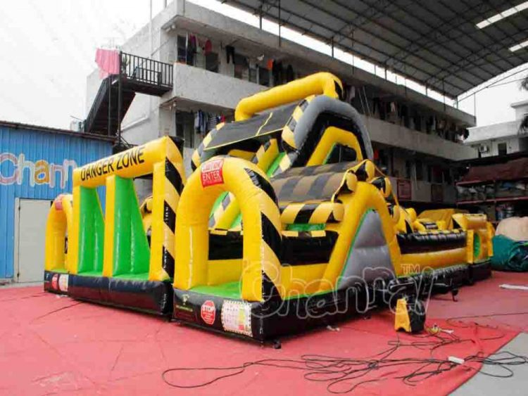 front and entrance of danger zone obstacle course
