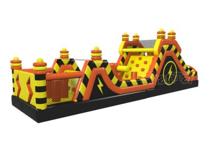 electric power station inflatable obstacle course