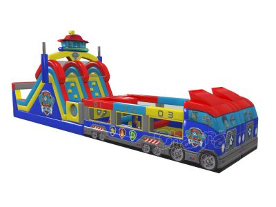 paw patrol bus inflatable obstacle course