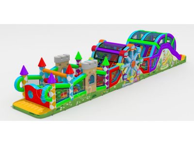 amusement park inflatable obstacle course for sale