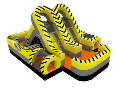 toxic zone turbo rush mini inflatable obstacle course