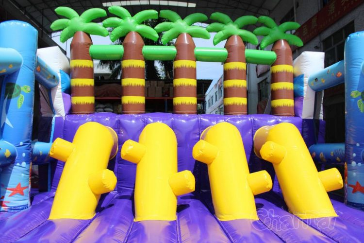 inflatable palm trees obstacle