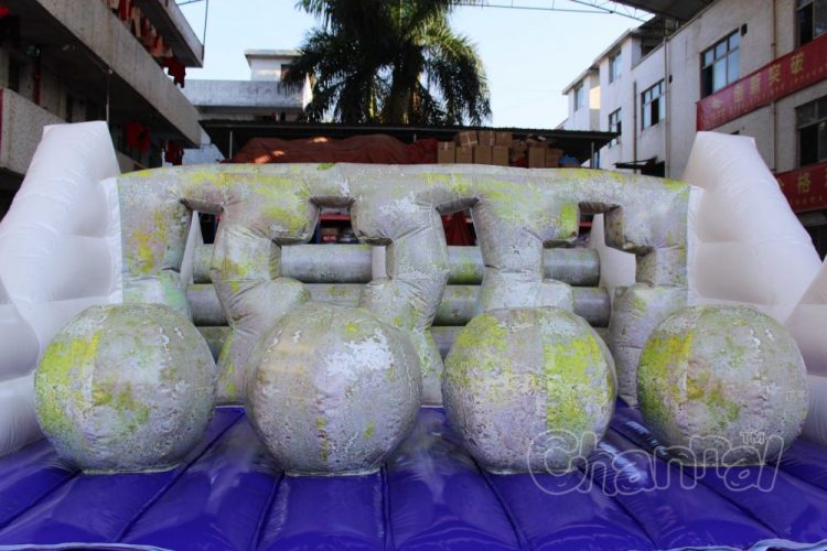 inflatable ocean moss rock obstacles