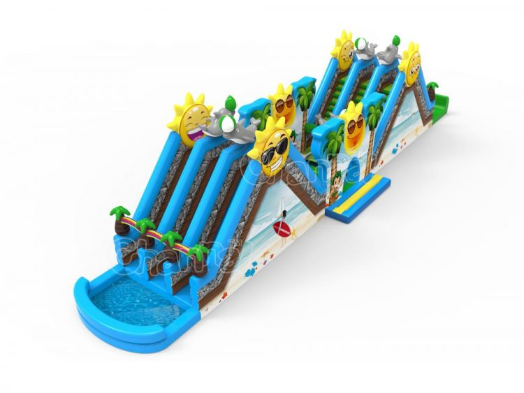 sunshine beach inflatable obstacle course