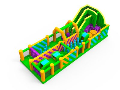round trip inflatable obstacle course