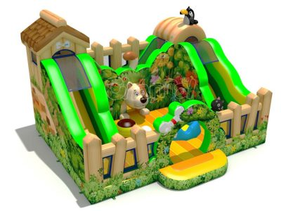 dog house inflatable playground