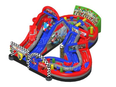mario kart inflatable obstacle course