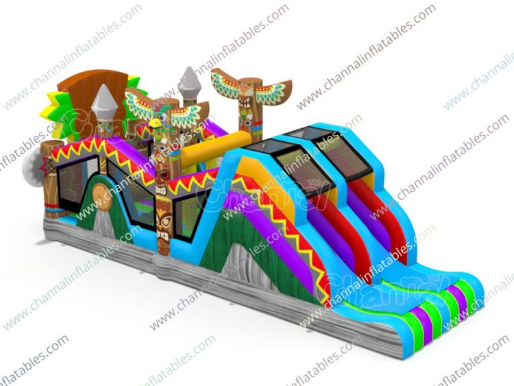 native american inflatable obstacle course