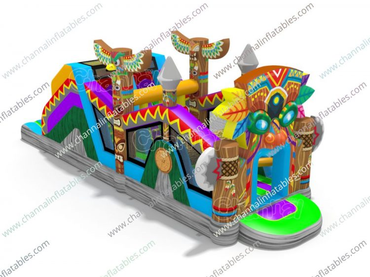 totem inflatable obstacle course