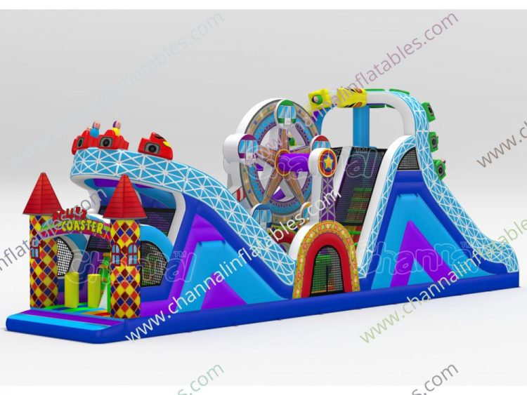 roller coaster inflatable obstacle course