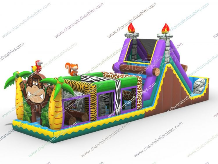 jungle trial inflatable obstacle course