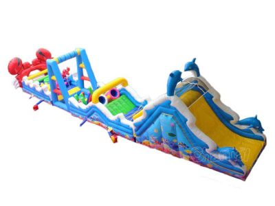 sea inflatable obstacle course