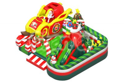 christmas theme inflatable obstacle course