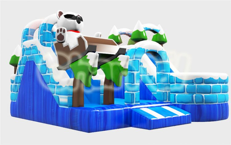 ice cedar castle inflatable obstacle course