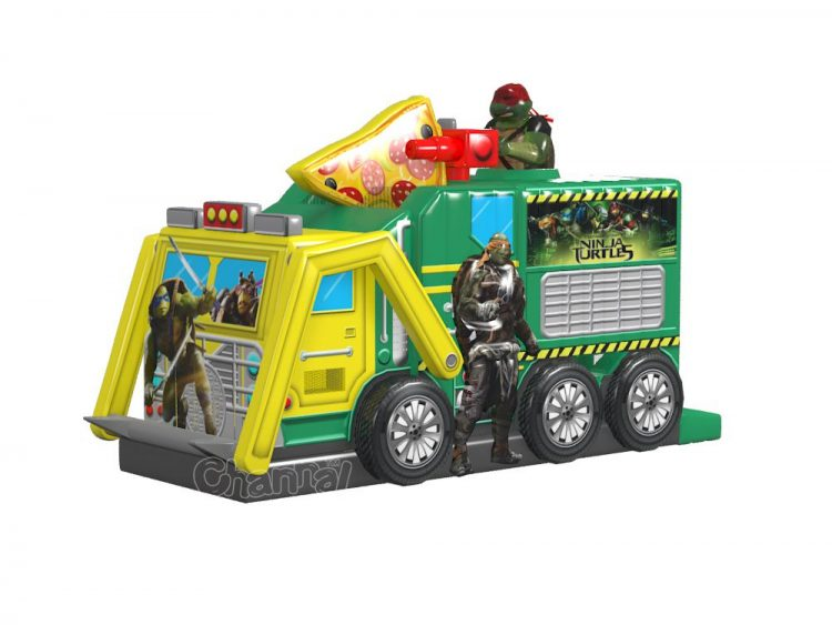teenage mutant ninja turtle tactical truck inflatable obstacle course