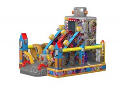 robots factory inflatable obstacle course for sale