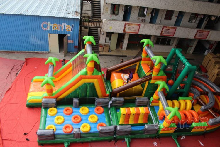 jungle adventure inflatable obstacle course