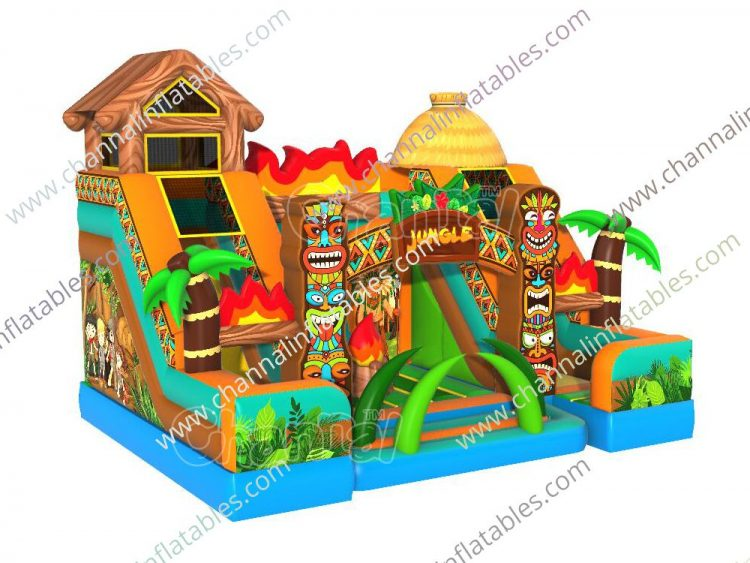 native american tribe inflatable playground