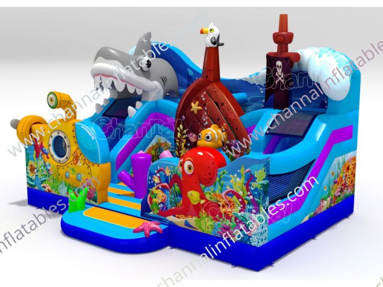 underwater inflatable playground