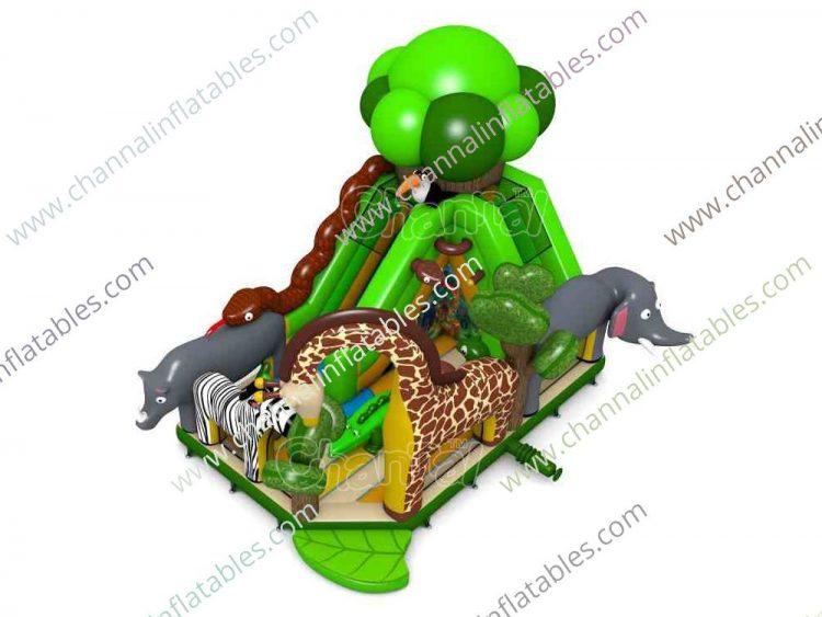 African Safari inflatable playground