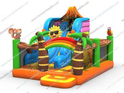 dinosaur inflatable playground