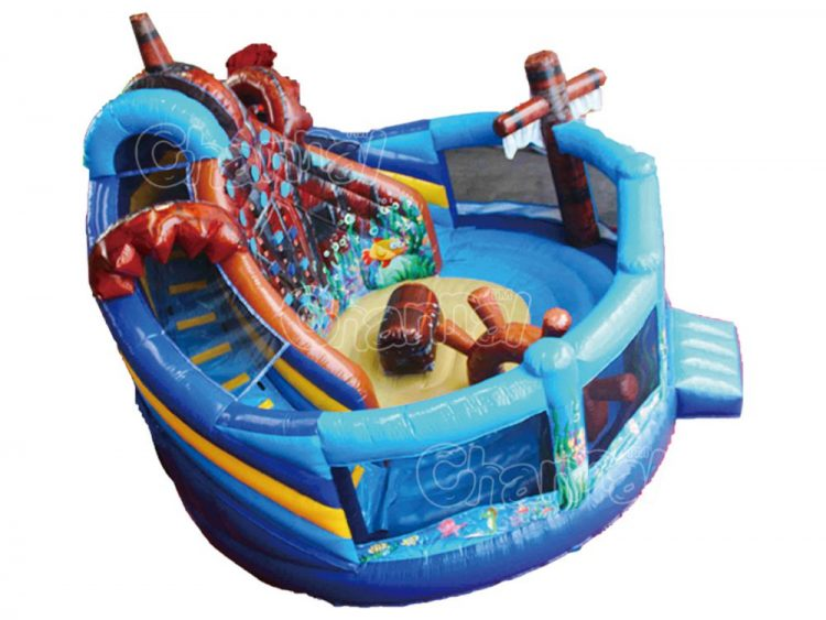 sunken shipwreck inflatable playground