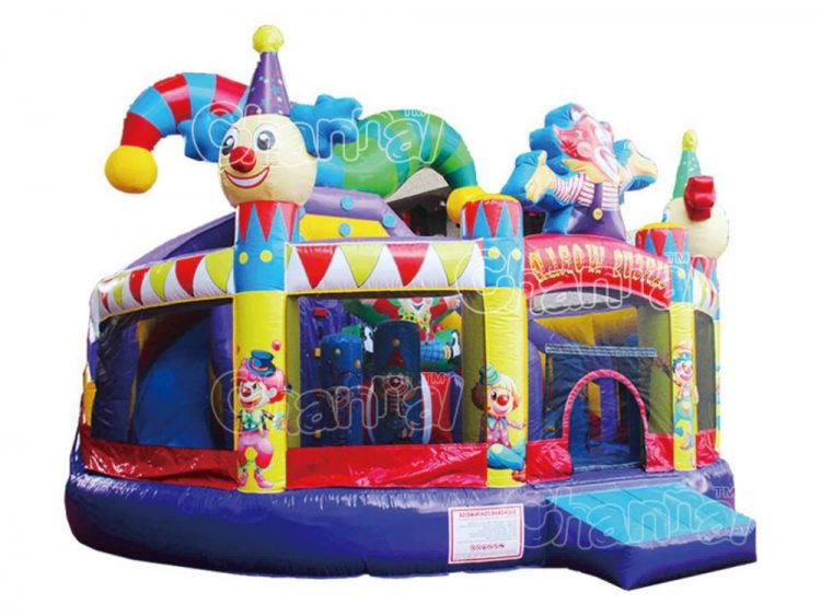 circus inflatable bouncy playground for birthday party