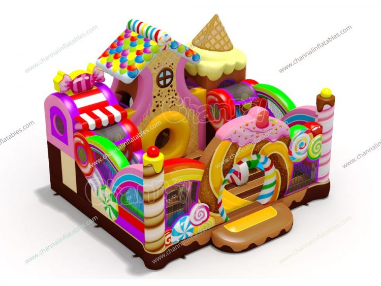 candy store inflatable playground