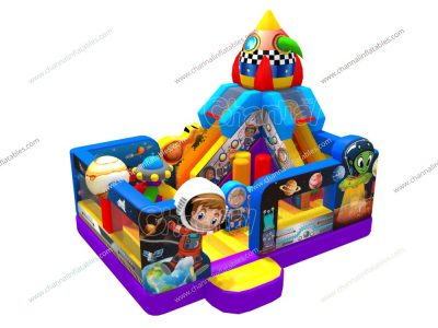 outer space inflatable playground for sale