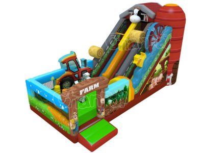 farm animals inflatable slide for sale