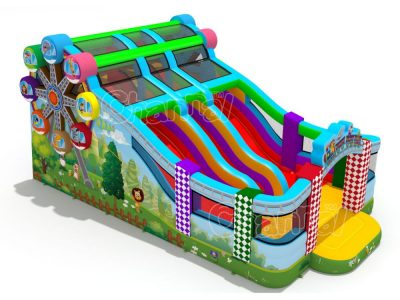 amusement park inflatable slide