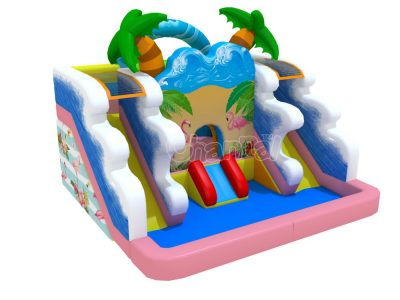 flamingo backyard water slide