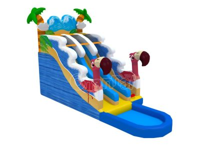 flamingo inflatable water slide