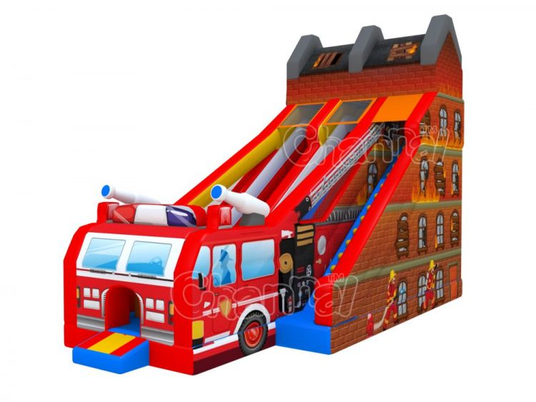 fire truck inflatable slide for sale